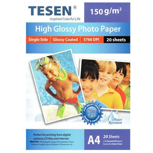 Papel fotográfico Tesen Glossy 150g