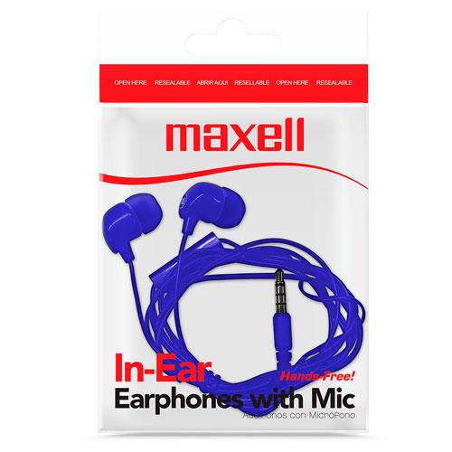 Auricular-In-Ear,-con-mic-Azul-y-Negro