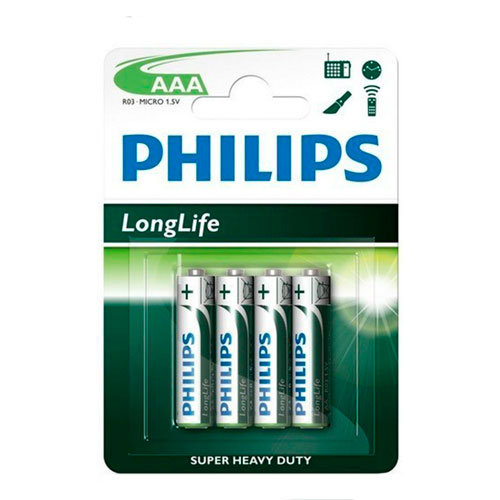 AAAPH Blister 4 pilas PHILIPS AAA